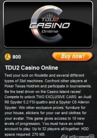 Обложка Test Drive Unlimited 2: Casino Online