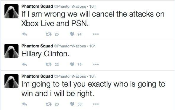 Атака на PSN и Xbox Live отменяется из-за победы Трампа. - Изображение 2