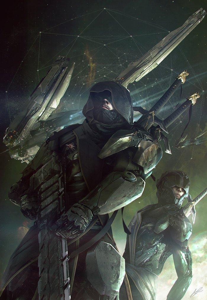Художник Адам Берн представил Ведьмака из 2077 года - Изображение 1