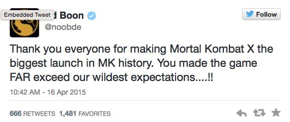 Mortal Kombat X: рекордные продажи и игра за Рэйна - Изображение 1