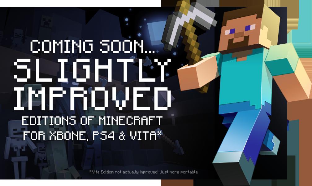 Minecraft для нового поколения консолей появится в августе - Изображение 1