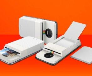Круто! Представлен новый модуль Motorola Mod, который превратит смартфон вPolaroid