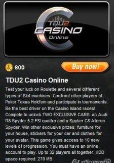 Tdu 2 где находится казино скачать игровые автоматы dolphins бесплатно