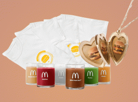 Аромасвечи икулоны: «Макдоналдс» выпустит мерч вчесть 50-летия «Роял Чизбургера»