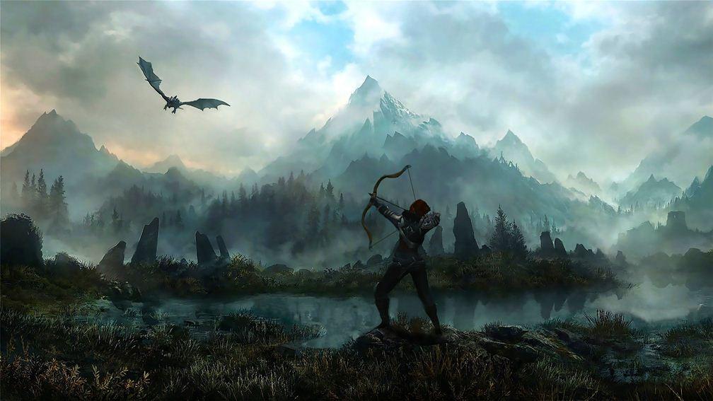 Гифка дня: противник вThe Elder Scrolls V: Skyrim, который лучшебы стал скейтером | Канобу - Изображение 1