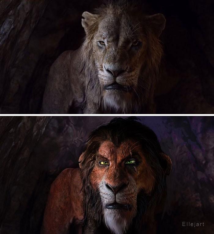 Художник перерисовал персонажей ремейка «Короля льва» в стиле оригинального мультфильма | Канобу - Изображение 8139