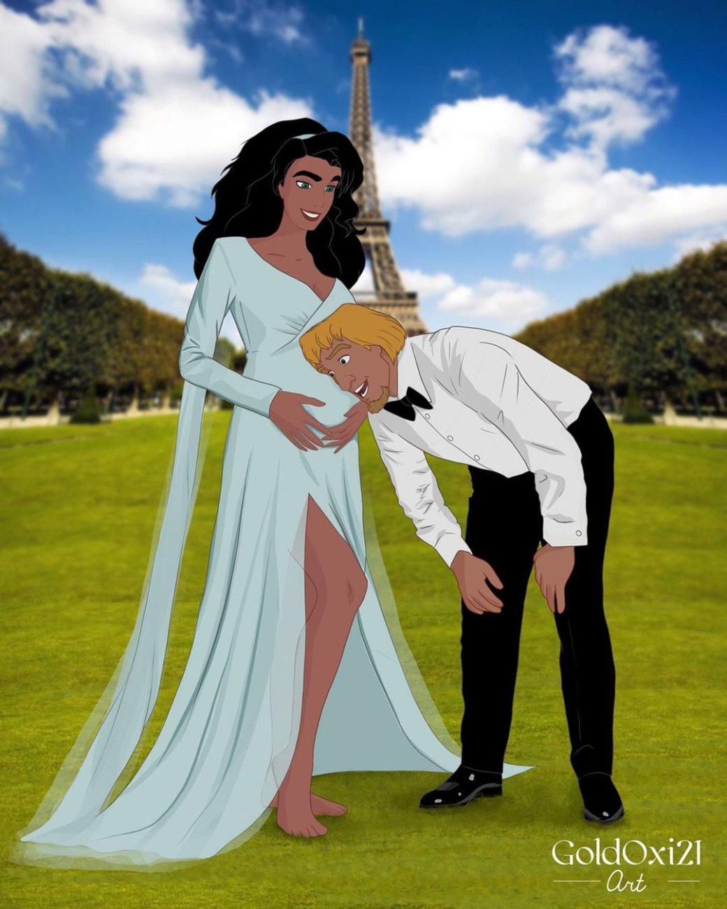 Российская художница изобразила беременных принцесс Disney | Канобу - Изображение 11171