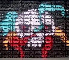 Logitech собрала огромный 8-битный экран из игровых клавиатур