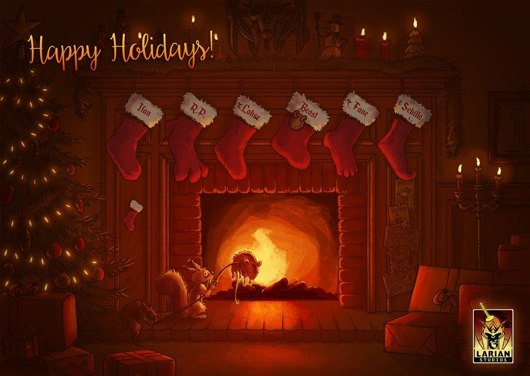 Разработчики поздравляют игроков с Рождеством. Подборка праздничных открыток   Канобу - Изображение 12501
