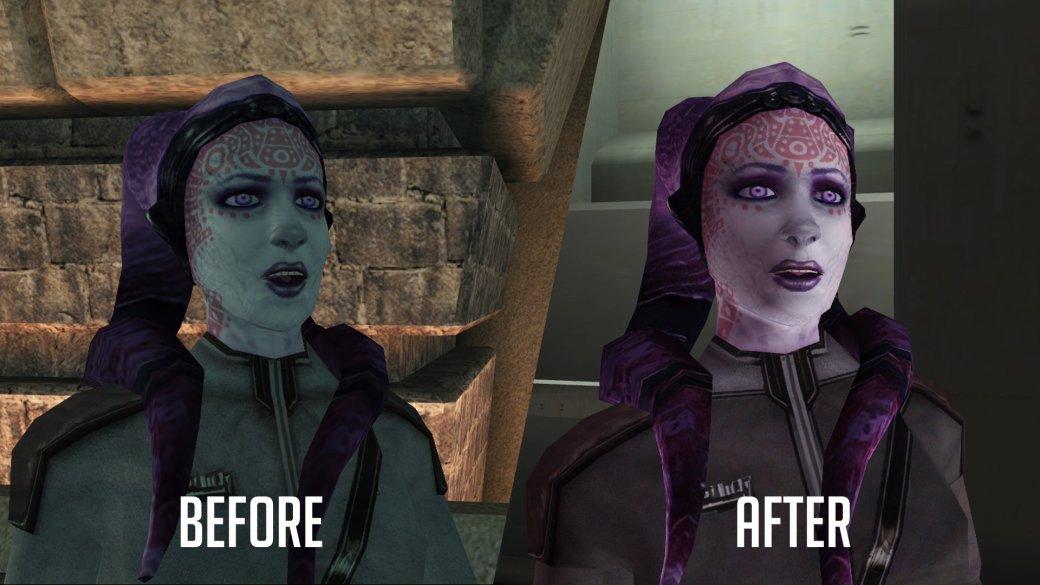 Фанатский мод для Knights ofthe Old Republic значительно улучшает внешний вид персонажей | Канобу - Изображение 6