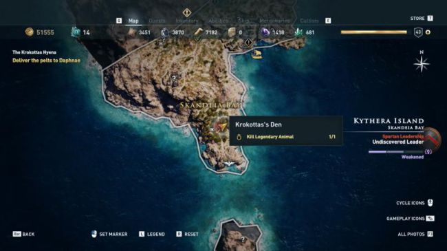 Гайд поAssassin's Creed: Odyssey. Где найти икак убить всех легендарных животных | Канобу - Изображение 8