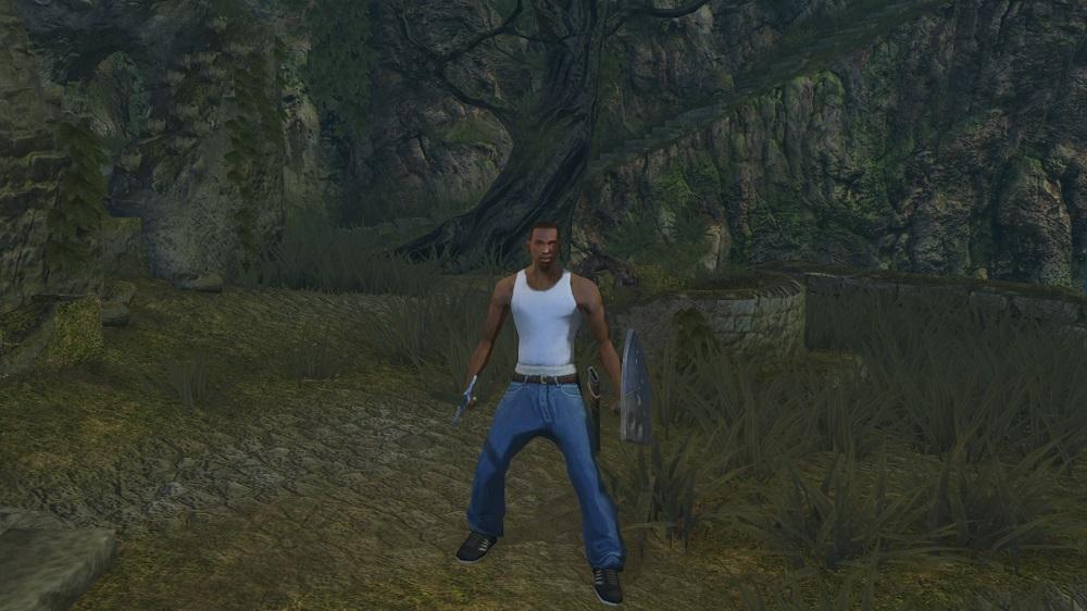 Восславьте Гроув-стрит! Энтузиаст добавил Си-Джея из San Andreas в Dark Souls   Канобу - Изображение 2143