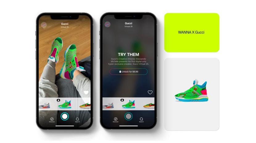 Gucci запустил продажи виртуальных кроссовок за 12 долларов