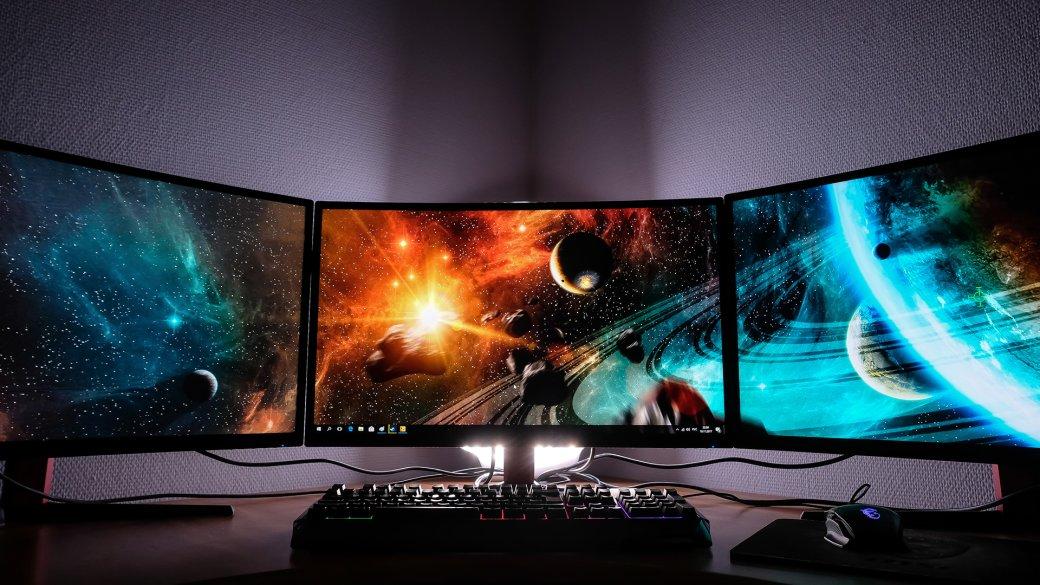 Блажь или будущее? Зачем компьютеру больше одного экрана, икак играть натрех мониторах сразу | Канобу