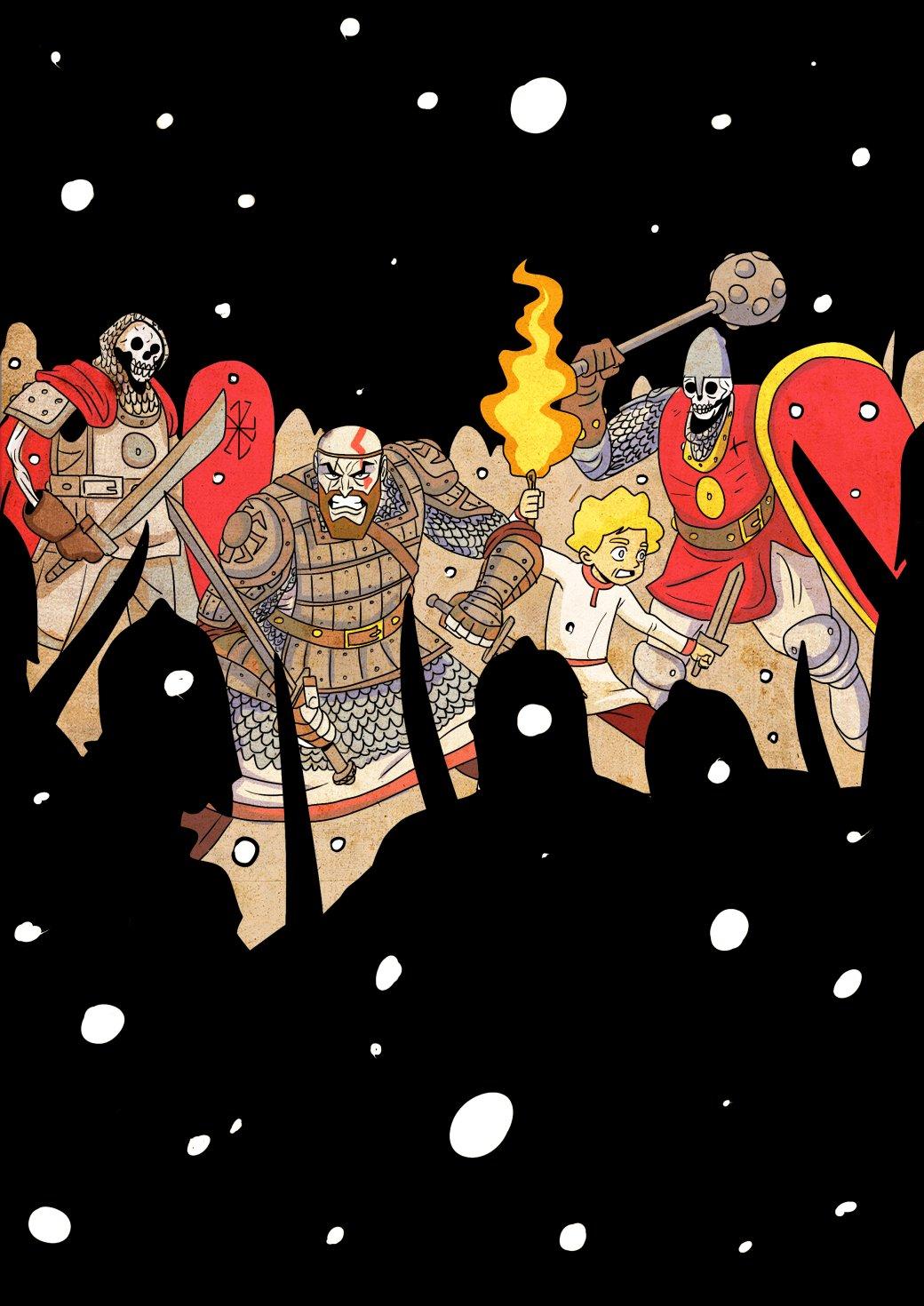Кратос vsБаба-яга! Какбы выглядела God ofWar вславянской мифологии. - Изображение 11